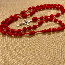 Load image into Gallery viewer, True Red Rope Rosary