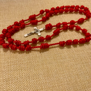 True Red Rope Rosary