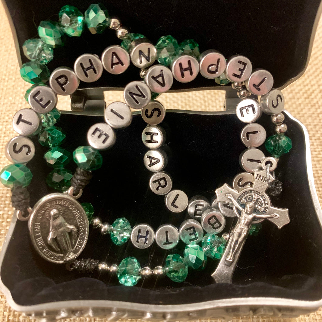 Personalized Inspirational Rosary