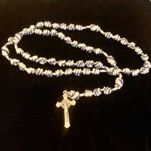 Blue Angel Knotted Rope Rosary