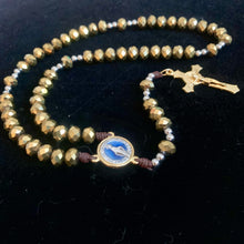 Load image into Gallery viewer, Immaculada Gold Rosary