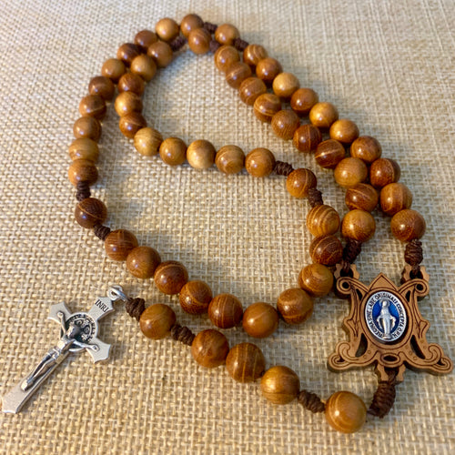 Miraculous Wood Rosary