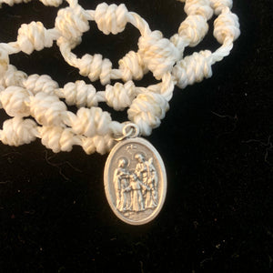 Guardian Angel Knotted Rope Rosary