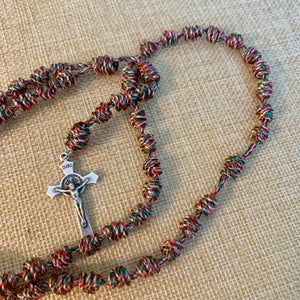 Joyful Bells Christmas Knotted Rope Rosary