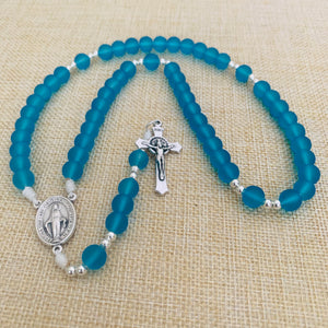 Aquatic Blue Rosary