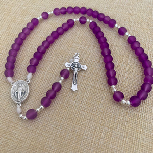 Violet Purple Rosary