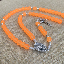 Load image into Gallery viewer, Sunkist Orange Rosary