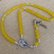 Load image into Gallery viewer, Sunlit Yellow Rosary