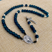 Load image into Gallery viewer, Teal Blue Rosary