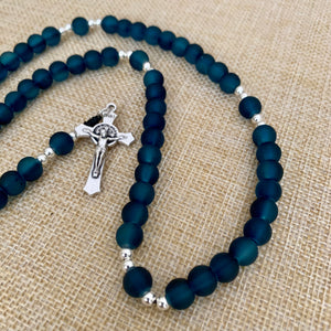 Teal Blue Rosary