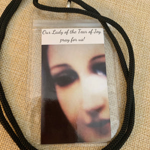 Lanyards with Mother Mary and Memorare Prayer
