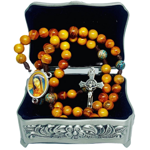 Guadalupe Wood Rosary
