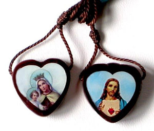 Large Wooden Heart Shaped Scapular