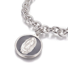 Load image into Gallery viewer, Virgin Mary Pendant Charm Bracelet