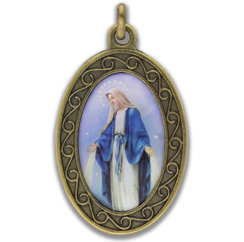Virgin Mary Our Lady of Grace Pendant Necklace