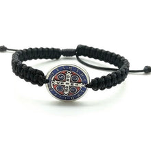 Load image into Gallery viewer, Men and Women St. Benedict Medal Bracelet