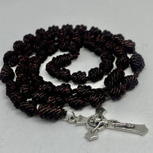 Load image into Gallery viewer, Carmelite Brown Knotted Rope Rosary