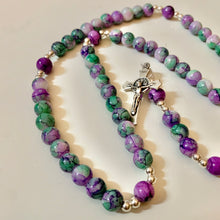 Load image into Gallery viewer, Seafoam Purple Rosary