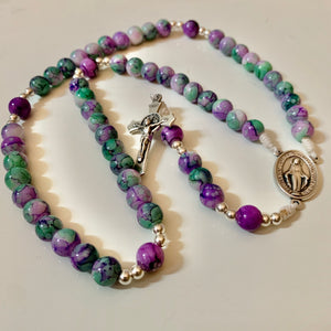 Seafoam Purple Rosary