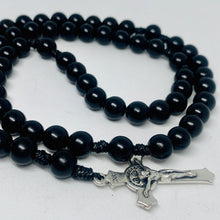 Load image into Gallery viewer, Black Wood Rosary