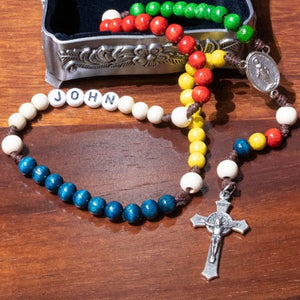 Personalized Pebbles Children's Rosary