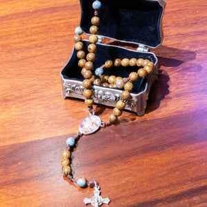 Jesus Crucified Wood Rosary