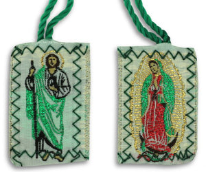 Scapular Green Our Lady of Guadalupe | Communion Chalice Scapular