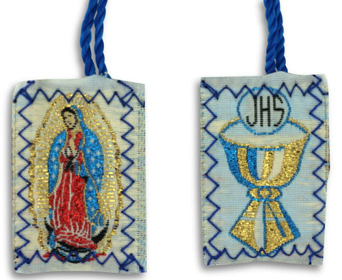 Scapular Blue Our Lady of Guadalupe | Communion Chalice Scapular