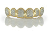 Straight Hand Set Diamond Yellow Gold Grillz [HS 005]