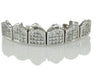 Invisible Princess Cut Block Set Diamond Gold Grillz