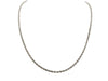 10K White Gold Rope Chain - 3MM
