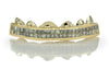 Princess Cut Channel Set Diamond Gold Grillz