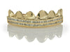 Princess Cut Diamond Set Gold Grillz