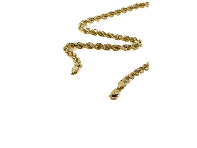 10K Yellow Gold Rope Chain - 4MM