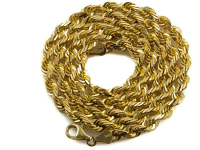 10K Yellow Gold Rope Chain - 5MM