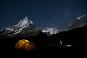 Basecamp at Dusk Below Meru