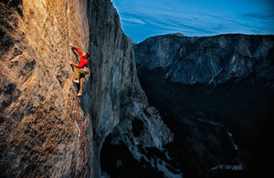 Kevin Jorgeson climbing the Dawn Wall, Yosemite, CA