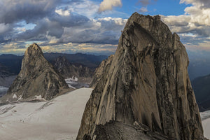 Conrad Anker climbing the Pigeon Spire, Bugaboos, CA