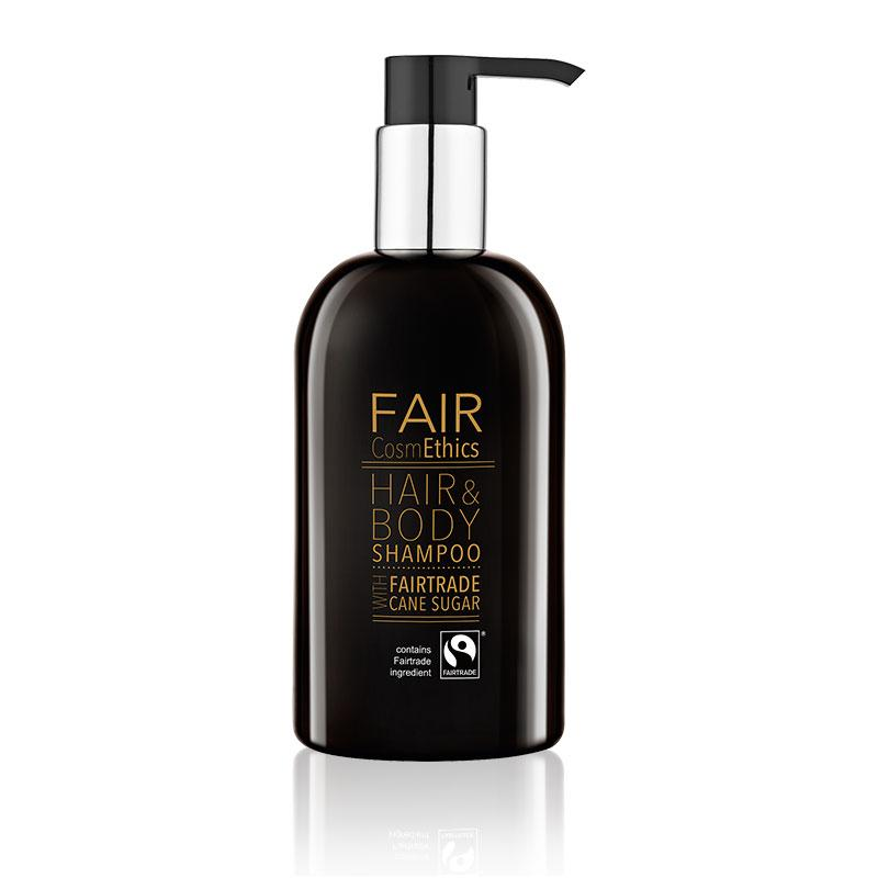 Fair Trade Shampoo Hair & Body 300ml CosmEthics doos à 30 stuks