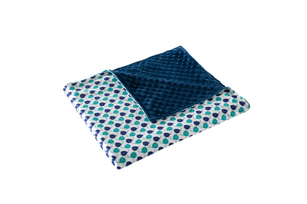 Fish Print Cover and 10lb Weighted Blanket