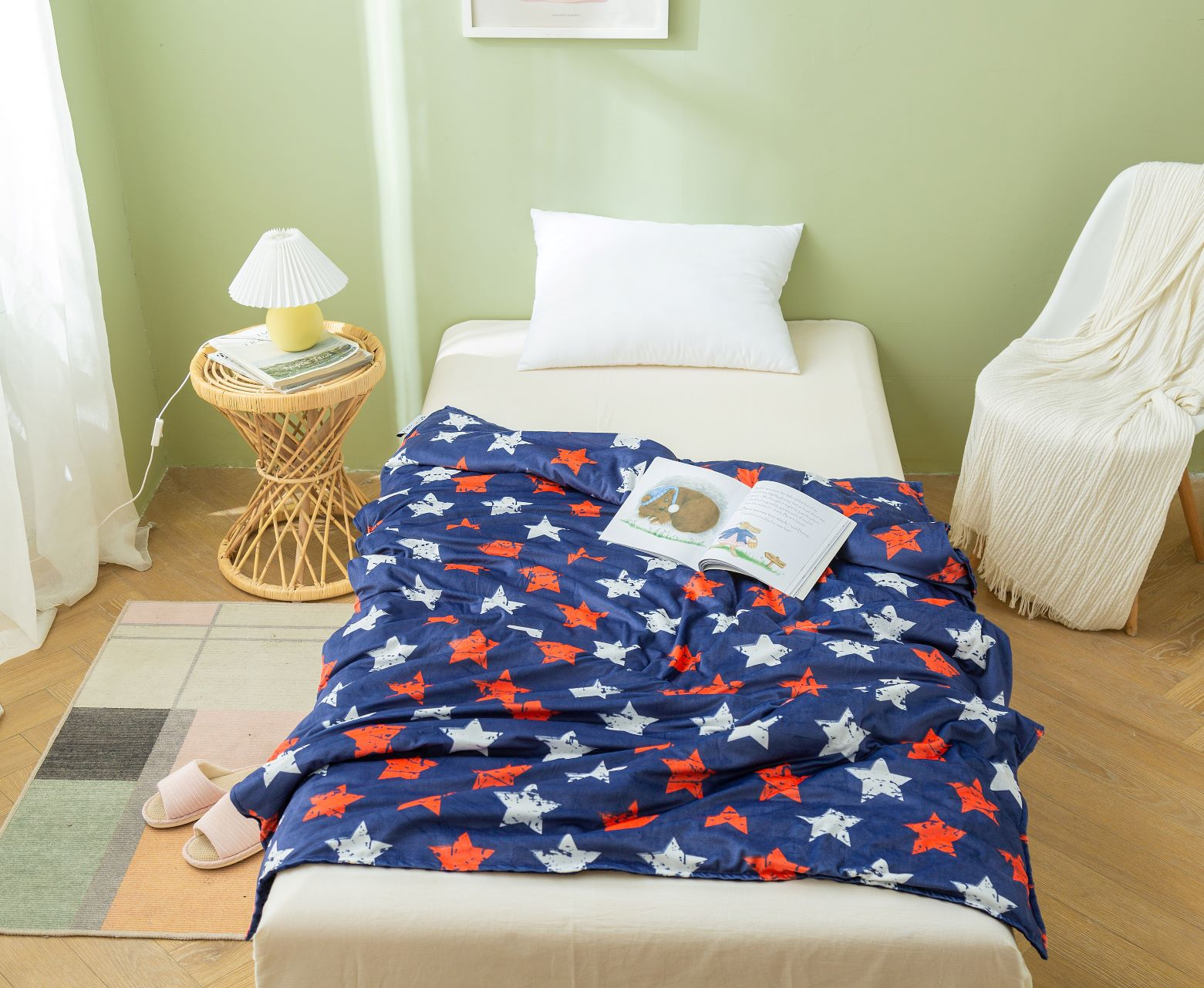 Star Print Cover for 12lb/15lb blanket- 1 size