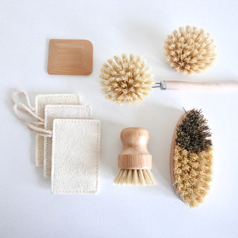 natural fibre cleaning brushes