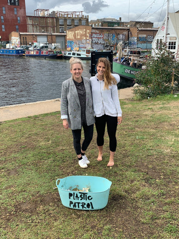 natasha tyler and lizzie carr founder of plastic patrol and clean up event in hackney wick