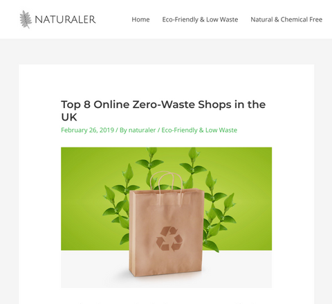 screenshot of the kind store featured in naturaler.