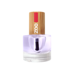 clear top and base coat nail varnish plastic free and natural by zao.