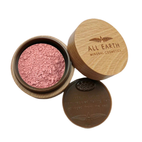 all earth mineral and natural blusher in beechwood pot for life.