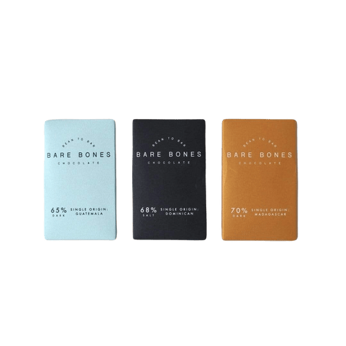 Bare Bones All Products Mini Bare Bones Bean to Bar Dark Chocolate 20g