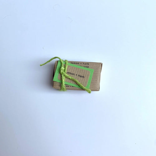 Bean & Boy All Products Mini Lemon & Herb Natural Soap