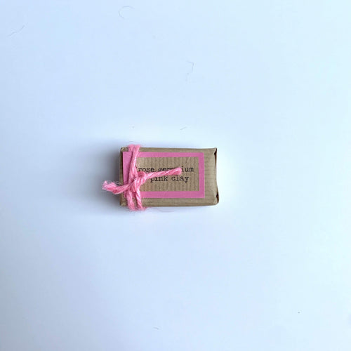 Bean & Boy All Products Mini Rose Geranium & Pink Clay Natural Soap