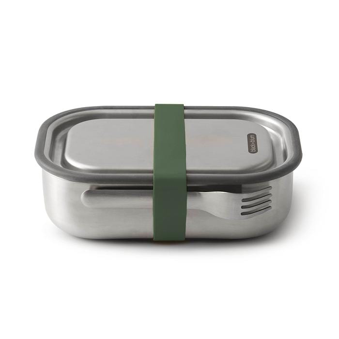 Black + Blum All Products Olive Stainless Steel Leak Proof Lunch Box 1L